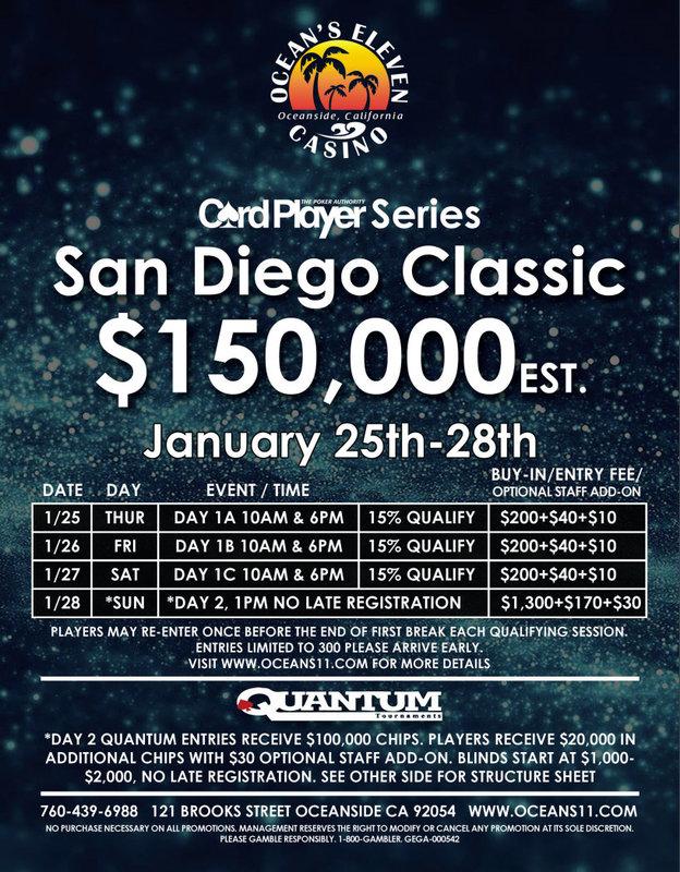 【6upoker】CPPT巡回赛圣地亚哥经典赛将于1月25日开赛