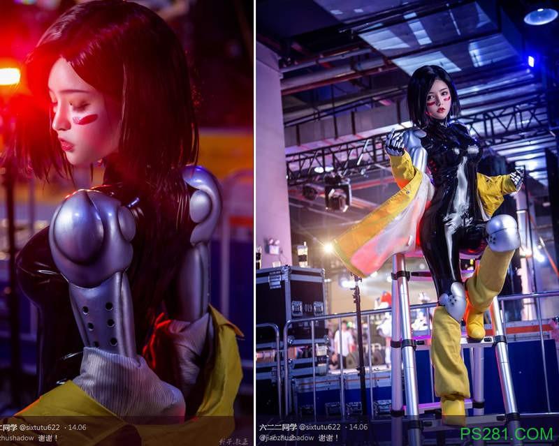 【6upoker】正妹coser《六二二同学》的战斗天使艾丽塔美美角色扮演