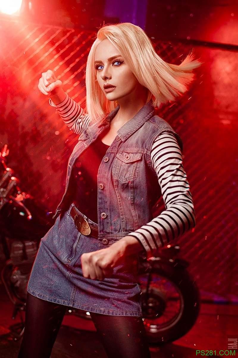 【6upoker】冷艳美女Julia Kasu角色扮演《七龙珠》人造人18号 高度还原战损版18号